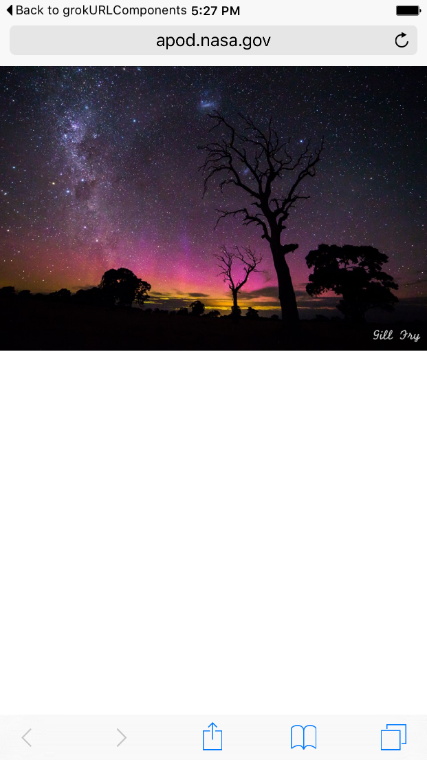 Astronomy Photo of the Day in Safari